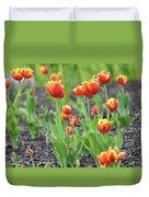 Tulips In The Springtime Duvet Cover