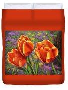 Tulips In The Sun Duvet Cover