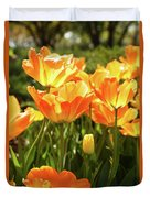 Tulips In The Sunlight Duvet Cover