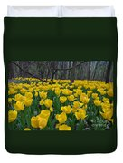 Tulips In The Woods Duvet Cover
