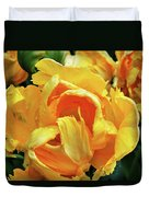 Tulips In Yellow Too Duvet Cover