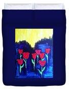 Tulips Of My Heart Duvet Cover