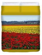 Tulips Of The Skagit Valley Duvet Cover