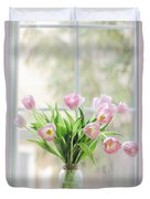 Tulips On The Window Duvet Cover