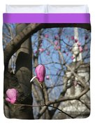 Tulips On Trees  Duvet Cover