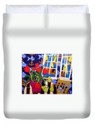 Tulips, Pears, Sailboats Duvet Cover
