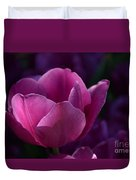 Tulips Purple Layers Duvet Cover