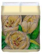 Tulips Trio Duvet Cover