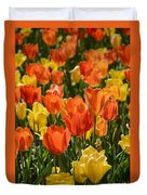 Tulips Yellow And Tangerine Duvet Cover
