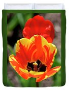 Tulips Yellow Red Duvet Cover