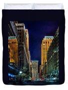 Tulsa Nightlife Duvet Cover