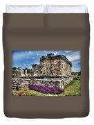 Tulum Temple Ruins Duvet Cover