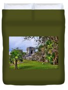 Tulum Watchtower Duvet Cover
