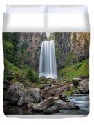 Tumalo Falls Closeup Duvet Cover