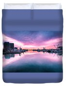 Tuna Harbor Sunrise Duvet Cover