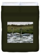 Tundra Swans And Cygents Duvet Cover