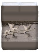 Tundra Swans Take Off Duvet Cover