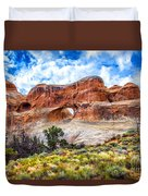 Tunnel Arch Trail View Duvet Cover