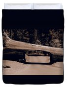 Tunnel Log - Sequoia National Park Duvet Cover