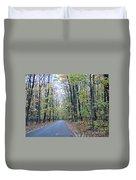 Tunnel Of Trees Duvet Cover