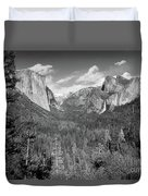 Tunnel View Bw Duvet Cover