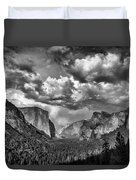Tunnel View In Black And White Duvet Cover