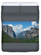 Tunnel View In Yosemite  Duvet Cover