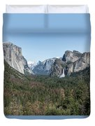 Tunnel View Of Yosemite During Spring Duvet Cover