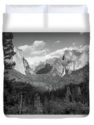 Tunnel View Shadow Bw Duvet Cover