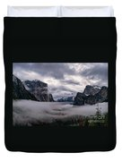 Tunnel View Storm Clouds Duvet Cover