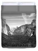 Tunnel View Yosemite B And W Duvet Cover