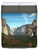 Tunnel View Yosemite Duvet Cover