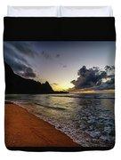 Tunnels Beach Sunset Duvet Cover