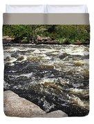 Turbulent Dalles Rapids Duvet Cover