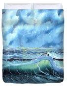 Turbulent Sea Duvet Cover