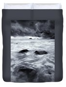 Turbulent Seas Duvet Cover by Mike  Dawson