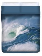 Turbulent Shorebreak Duvet Cover