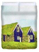 Turf Huts In Skaftafell Duvet Cover