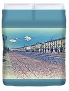 Turin, Square Vittorio. Duvet Cover