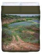 Turkey Bend Park Texas Rough Road Duvet Cover