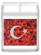 Turkey Flag Duvet Cover