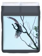 Turkey Vulture Drying Wings After Rain     Indiana Summer Duvet Cover