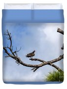 Turkey Vulture On Dead Tree Duvet Cover