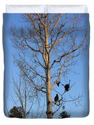Turkey Vulture Tree Duvet Cover