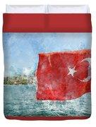 Turkish Flag Duvet Cover