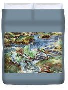 Turkish Woman By A Stream Duvet Cover