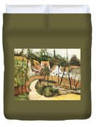 Turn In The Road Reproduction Of Cezannes Work. Duvet Cover
