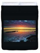 Turnagain Arm Sunset Duvet Cover