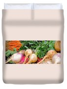 Turnips And Carrots Duvet Cover
