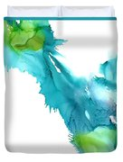 Turquoise Abstract Duvet Cover